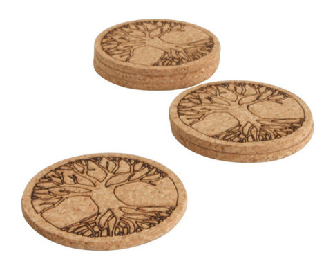tree of life coasters - wiccan gift