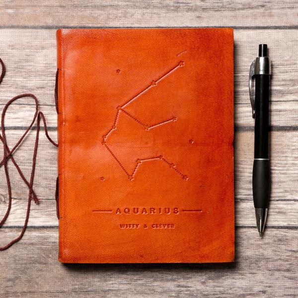 wiccan gift - zodiac notebook
