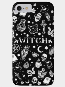 wiccan gift - witch phone case