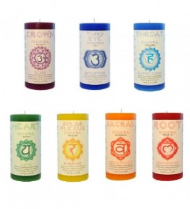 witch gift - chakra pillar candles