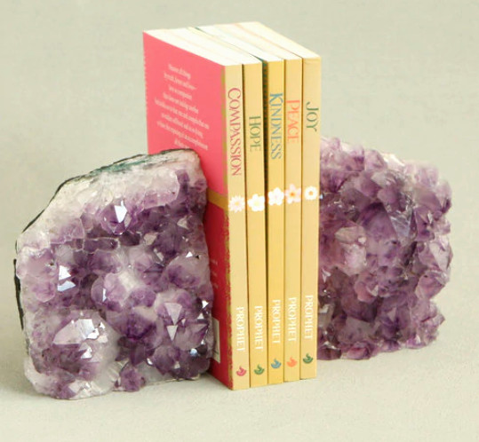 crystal bookends - gift for witch friend