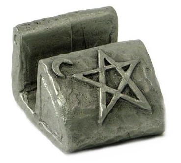 wiccan gift - pentagram card holder