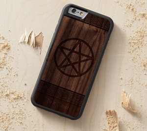 wood phone case for wiccan