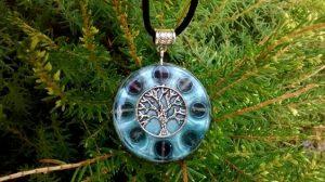 orgonite tree of life pendant