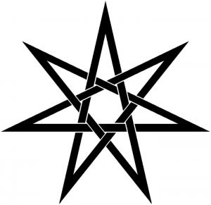 wiccan symbol - elven star