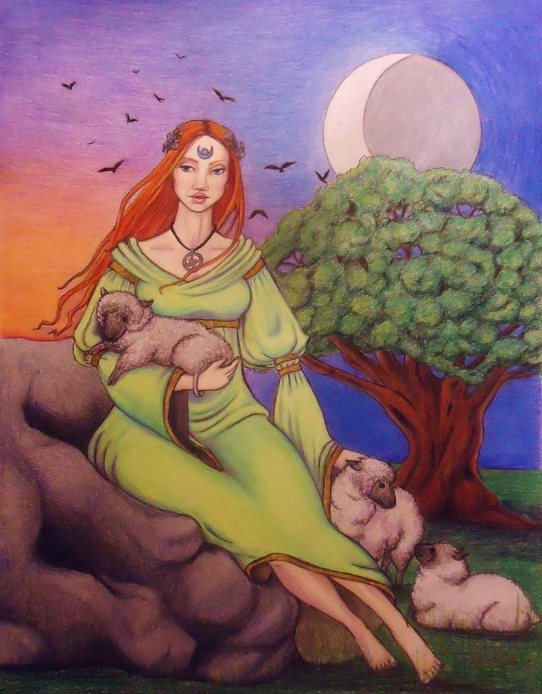 Imbolc pagan holiday - Brigid